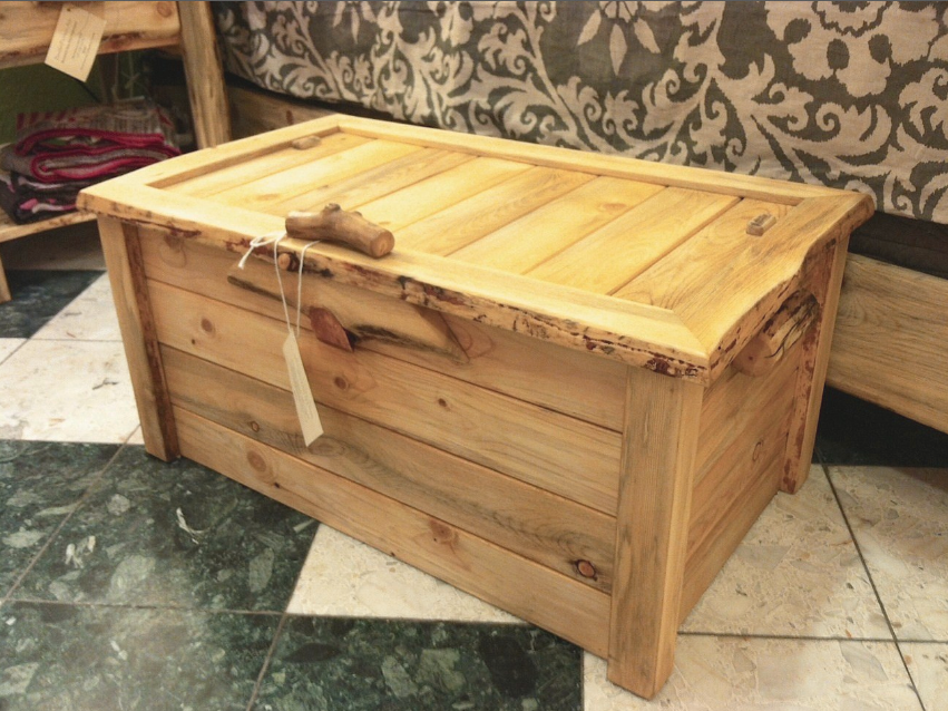 Trunk Beetlekill Rustic Liveedge Tongue Groove Chest Toy