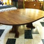 Custom Solid Walnut Craftsman Pedestal