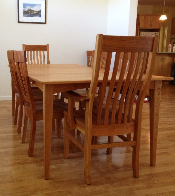 "Solid Cherry ""Mission"" and ""Hearthside"" Chairs"