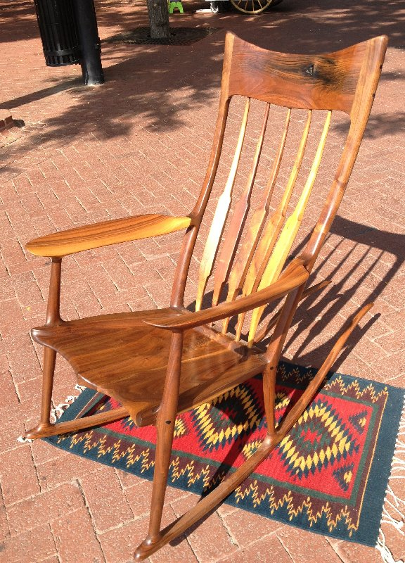 "Solid Walnut ""Sam Maloof"" Rocker"