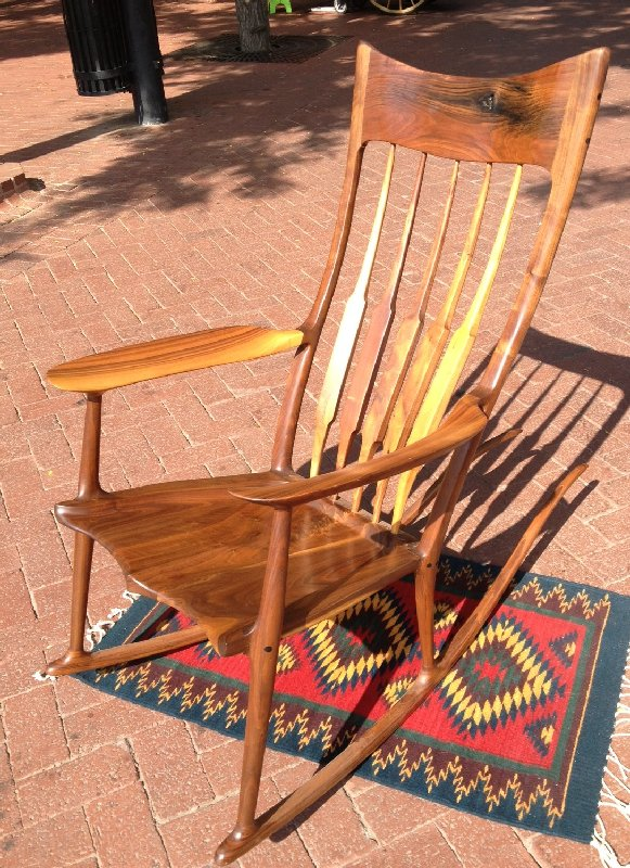 "Walnut ""Sam Maloof"" Rocker"