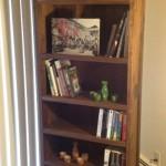 """Solid Walnut """"Prairie"""" Bookcase"""