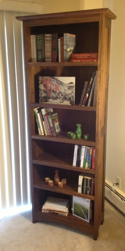 "Walnut ""Prairie"" Bookcase"