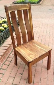 "Solid Walnut ""Craftsman"" Chair"