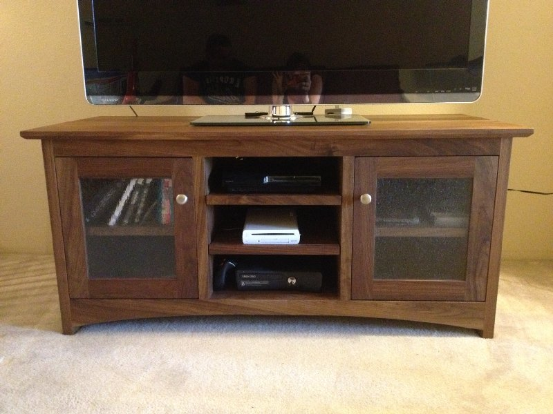 "Walnut ""Prairie"" Media Cabinet"