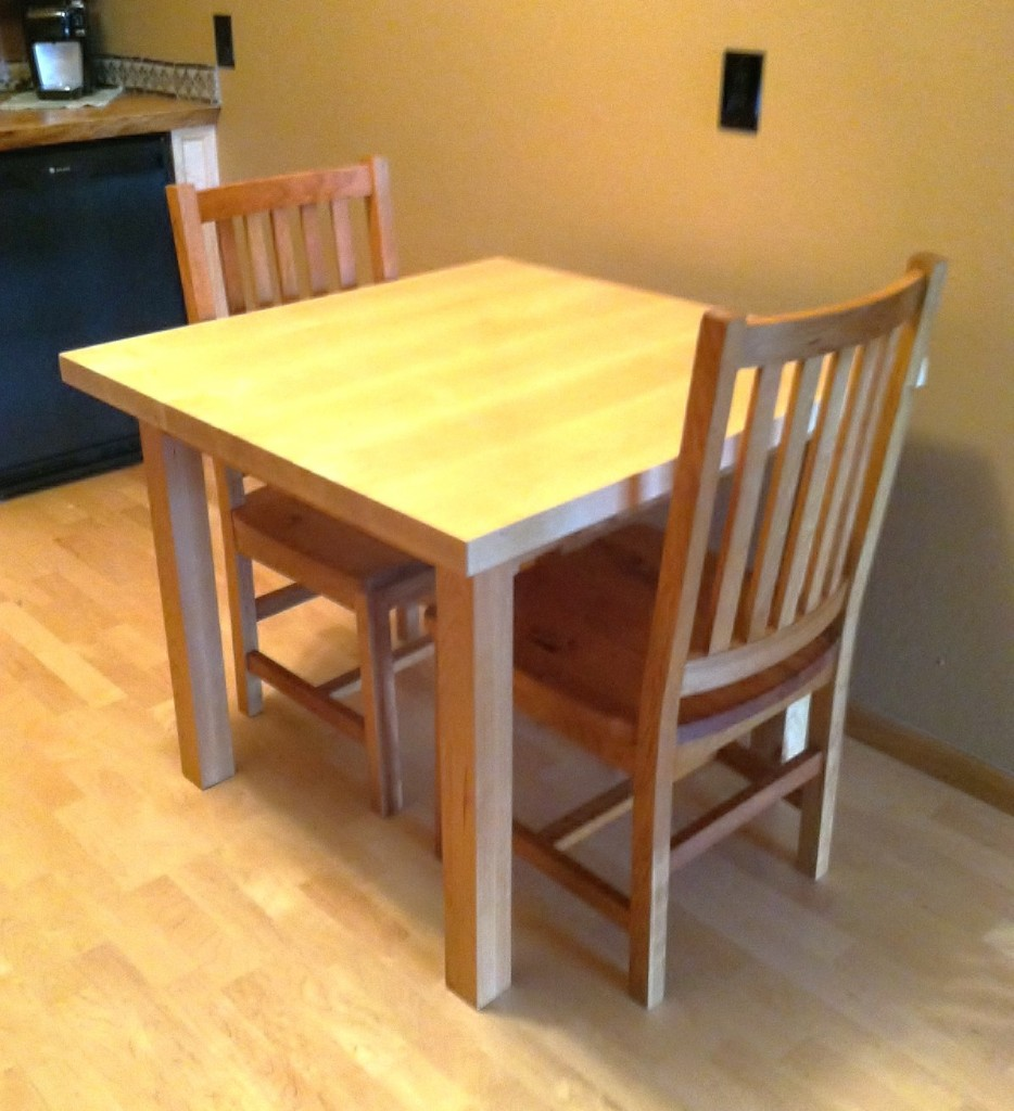 solid rustic cherry schoolhouse chairs - Maple Kitchen Table