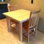 Solid Maple and Rustic Cherry Contemporary Table