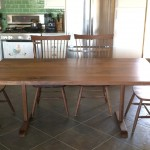 Solid Walnut Trestle Dining Table