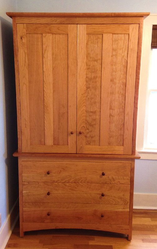 "Cherry ""Prairie"" Tall Cabinet"