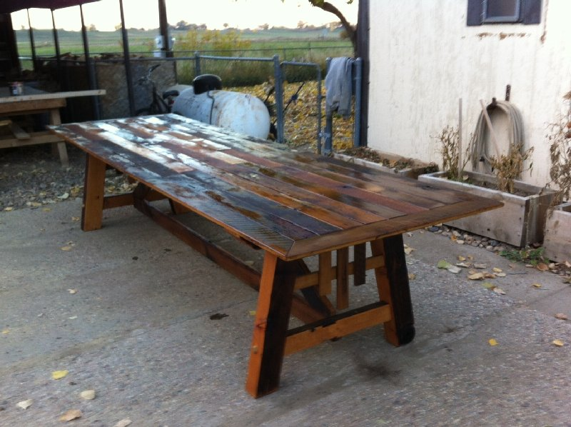 Custom Outdoor Reclaimed Dining Table | Boulder Furniture Arts