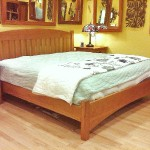 Solid Cherry Slat Arch King Platform Bed
