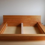 Solid Cherry, flat box frame, modern details. (Substructure removed).