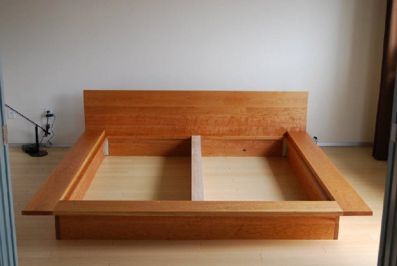 solid cherry flat box frame modern details removed