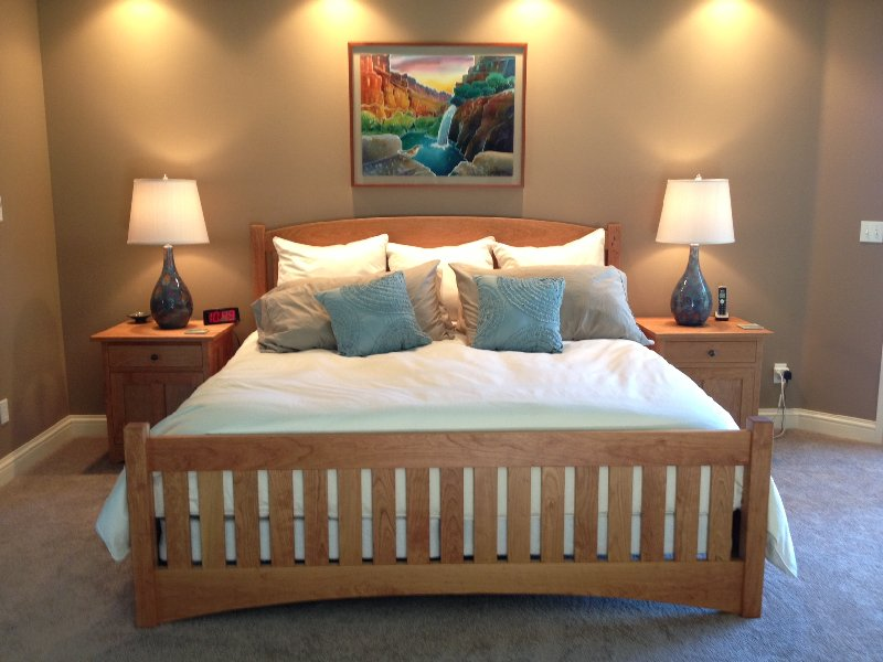 "Solid Cherry ""Slat Arch"" King Bed"