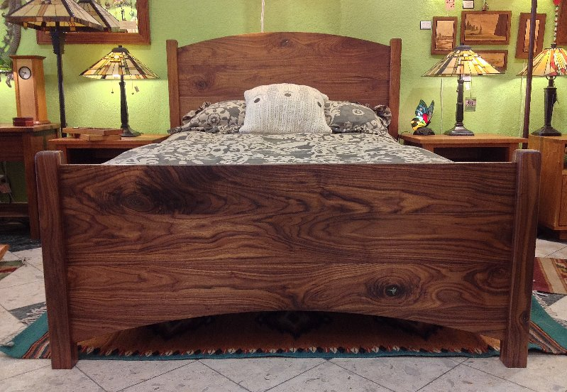 "Solid Walnut ""Solid Arch"" Full Bed"