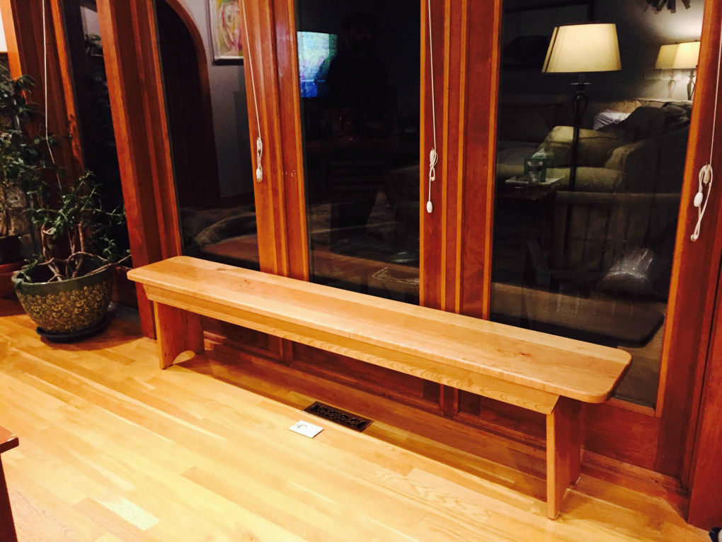 "Solid Cherry ""Shaker"" Backless Bench - 80"""