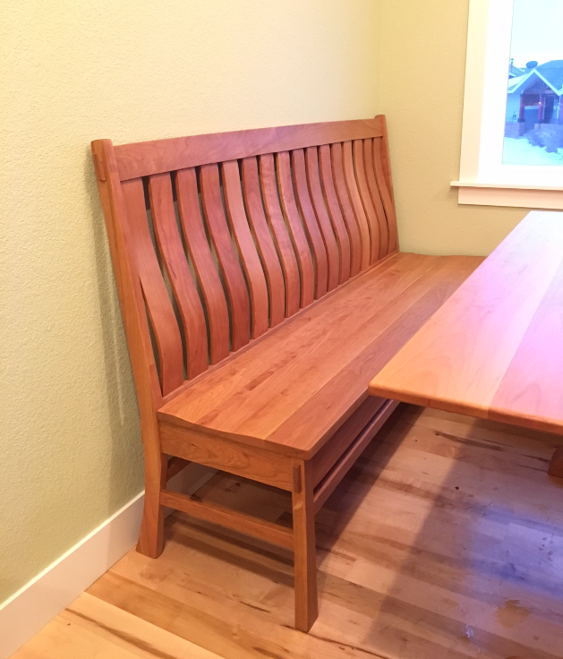 "Solid Cherry ""Craftsman"" Bench - 60"""