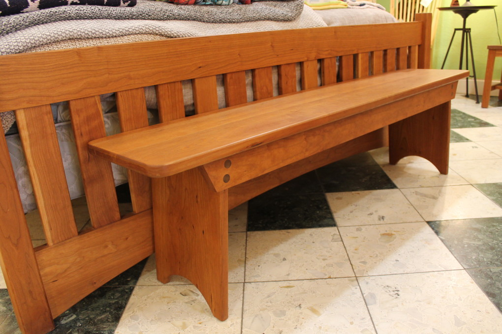 "Solid Cherry ""Shaker"" Backless Bench - 60"""