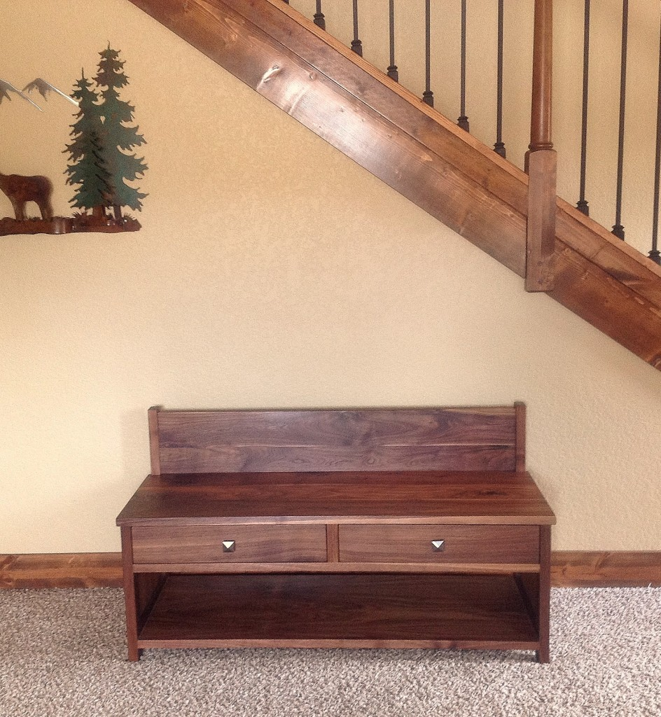 "Walnut ""Emerson"" Storage Bench"