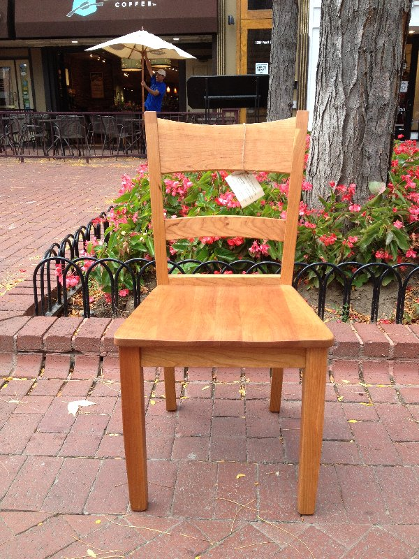 """Solid Cherry """"Canyon"""" Chair"""