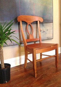 "Solid Cherry ""Laurel"" Chair"