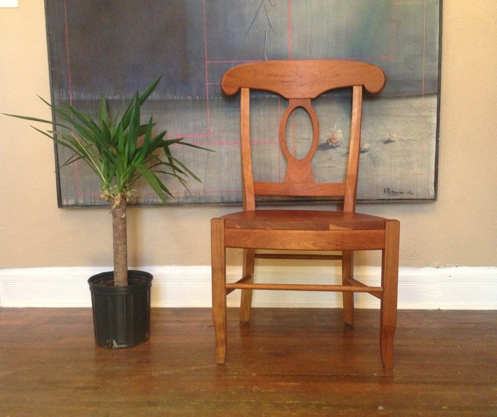 "Solid Cherry ""Laurel"" Chair"