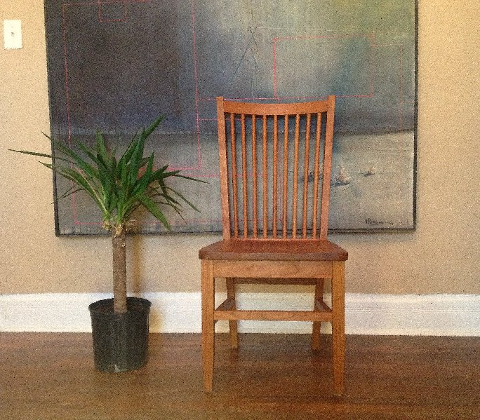 """Solid Cherry """"Tempo"""" Chair"""