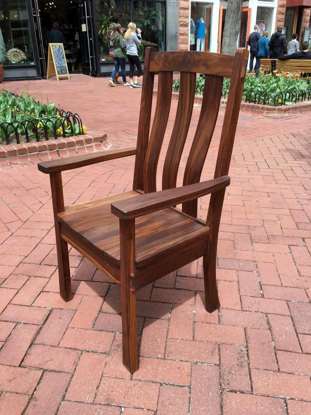 """Solid Walnut """"Craftsman"""" Arm Chair"""