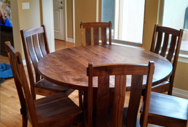 "Solid Walnut ""Craftsman"" Chairs"