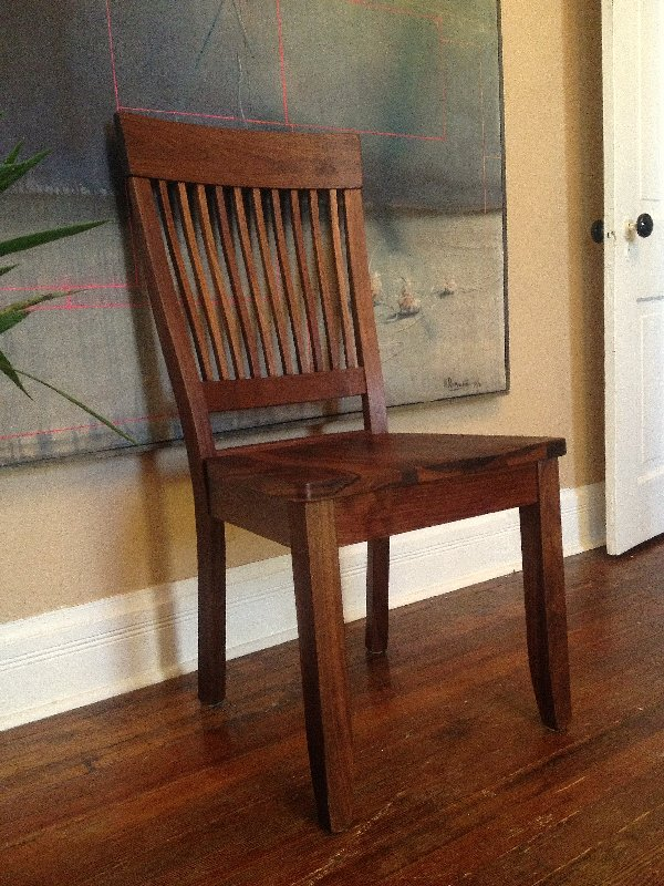 "Solid Walnut ""Whittier"" Chair"