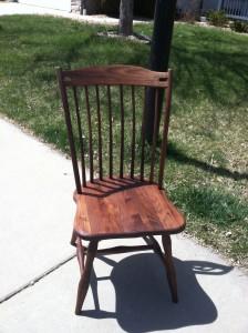 "Solid Walnut ""Lansing"" Chair"