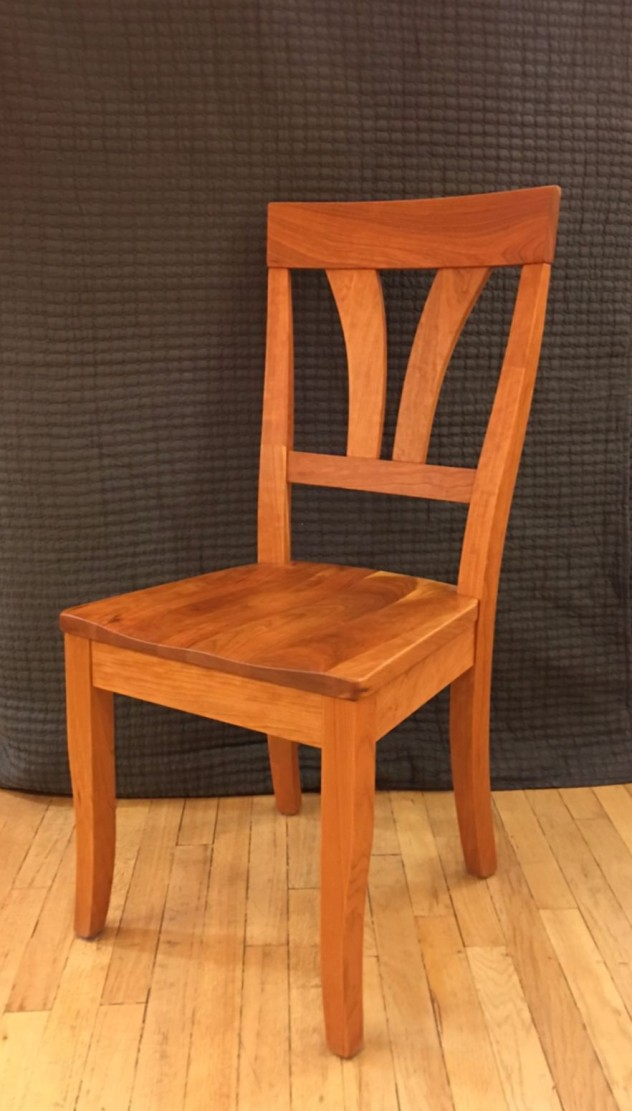 "Solid Cherry ""Mapleton"" Chair"