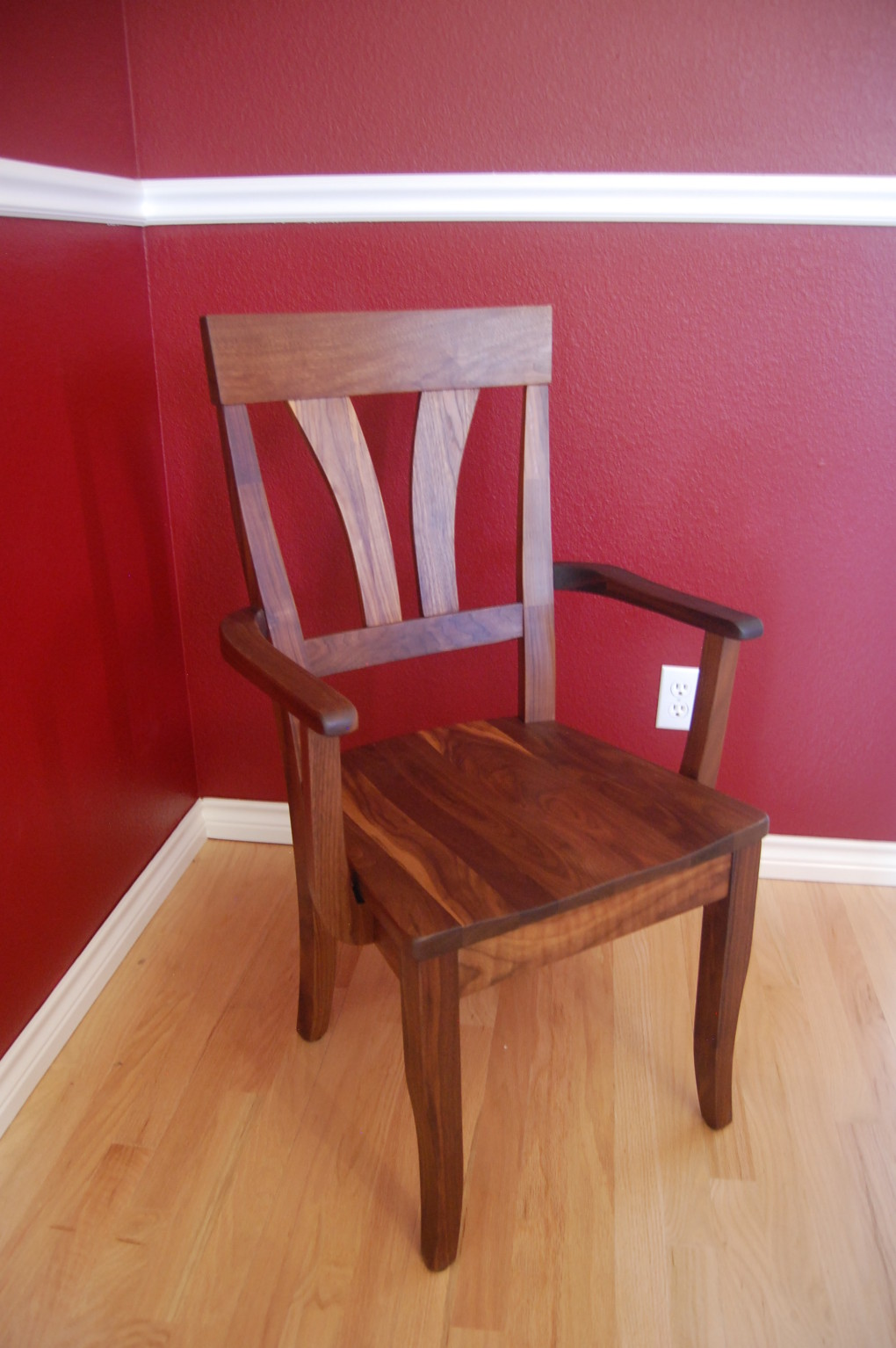 "Solid Walnut ""Mapleton"" Arm Chair"
