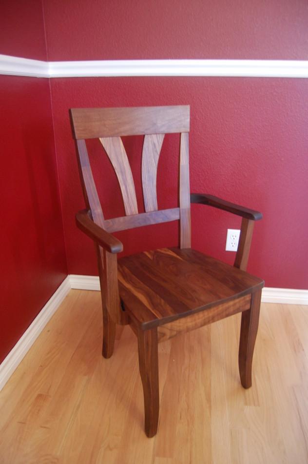"""Solid Walnut """"Mapleton"""" Arm Chair"""