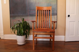 "Solid Cherry ""Mission"" Arm Chair"