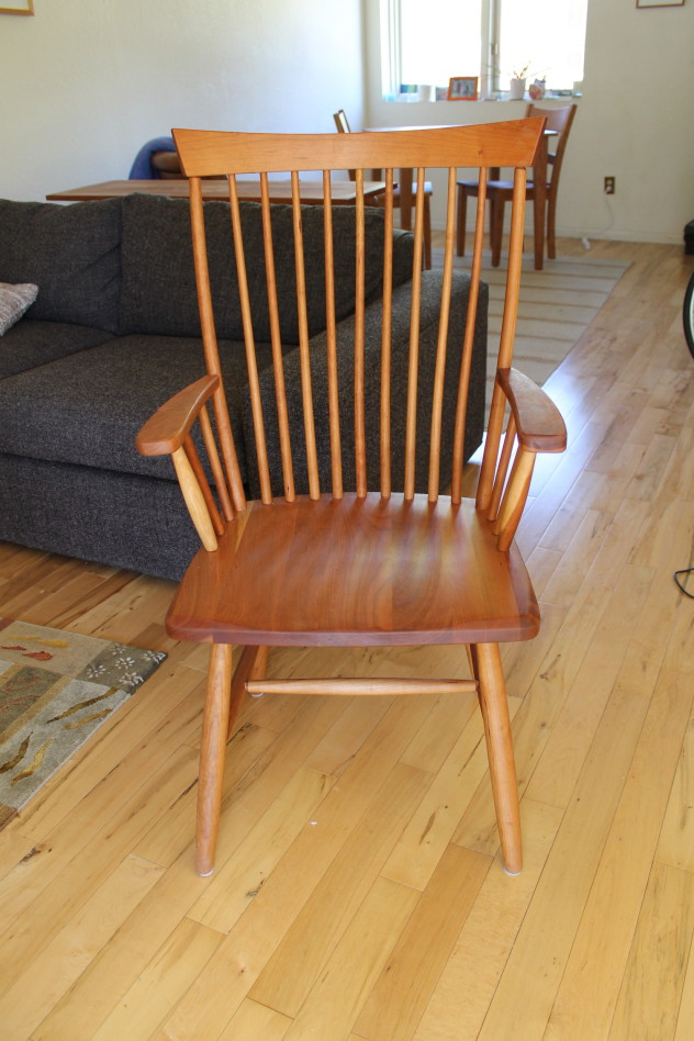 """Solid Cherry """"Montpelier"""" Arm Chair"""