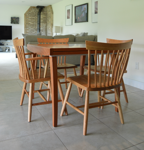 "Solid Cherry ""Montpelier"" Chairs with Custom Low Back"