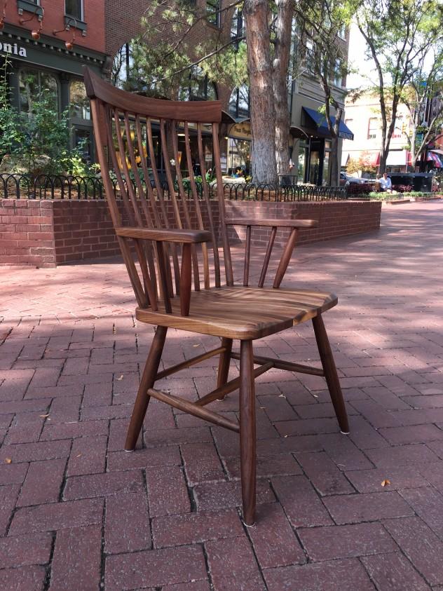 """Solid Walnut """"Montpelier"""" Arm Chair"""