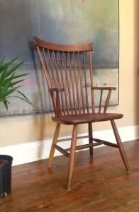 "Solid Walnut ""Combback"" Arm Chair"