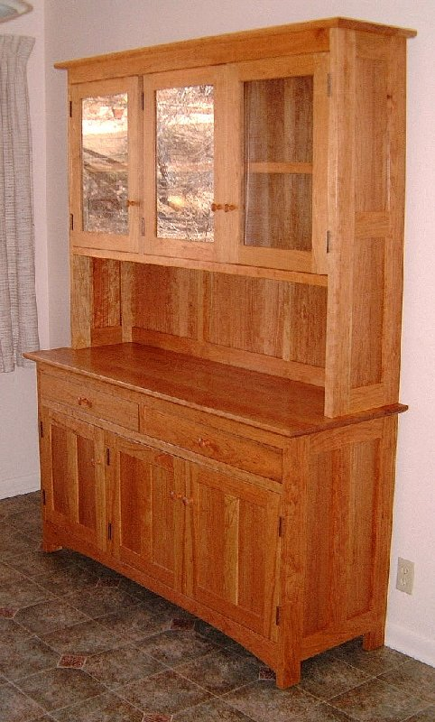 "Cherry ""Shaker"" Three-Door Hutch"