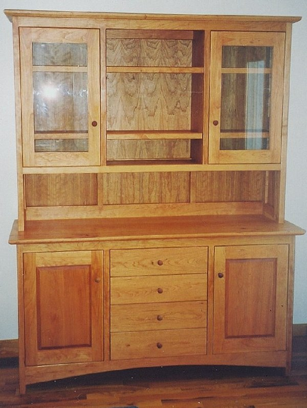 "Custom Cherry ""Shaker"" Hutch"
