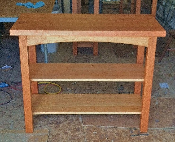 "Solid Cherry ""Prairie"" Kitchen Console Table"