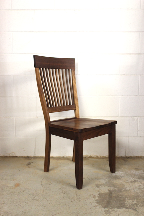 "Solid Walnut ""Whittier"" Side Chair"