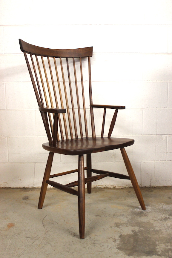 "Solid Walnut ""Comback"" Arm Chair"