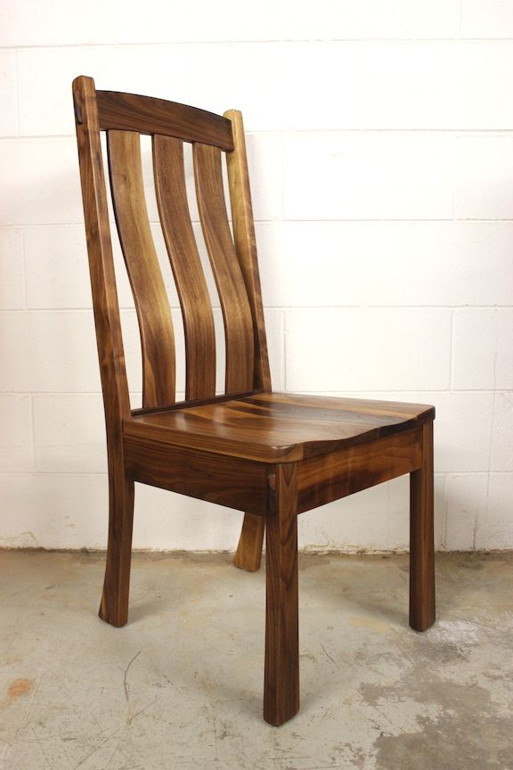 "Solid Walnut ""Craftsman"" Side Chair"