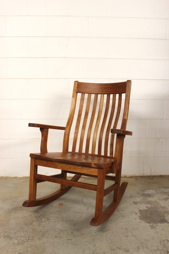 """Solid Cherry """"Deluxe Mission"""" Rocker"""