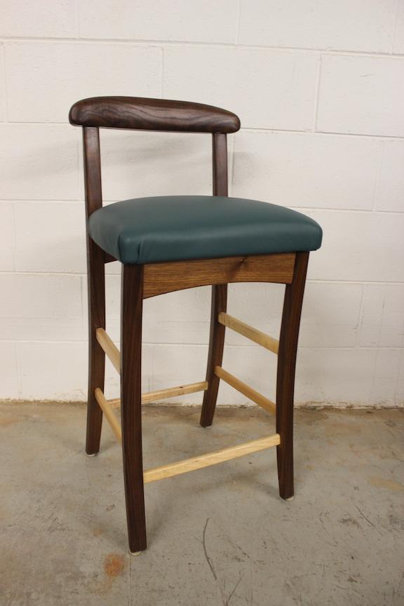 One-Of-A-Kinds: Walnut & Leather Barstool