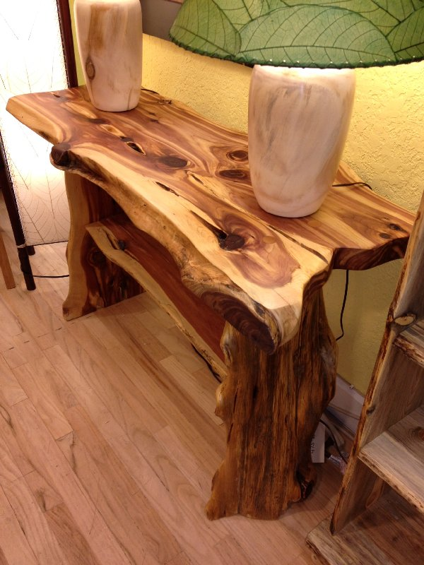 Modern wooden tables - Liveedge Red Cedar Hall Table Boulder Furniture Arts
