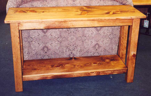 """Solid Pine """"Mission"""" Sofa Table"""