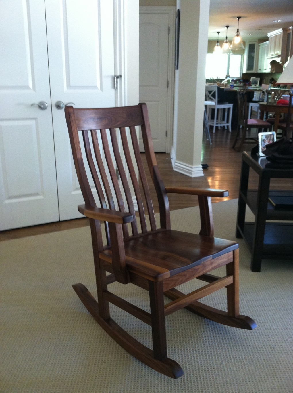"Solid Walnut ""Mission"" Classic Rocker"